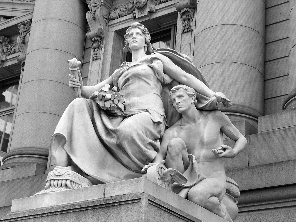 America Sculpture by Daniel Chester French